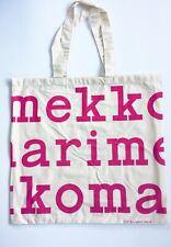 Marimekko logo bag, pink + off white