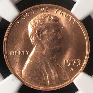 1973-D 1C Lincoln Memorial One Cent  NGC UNC DETAILS      3653648-005