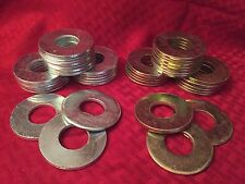 "8 - WASHER TOSS GAME - Silver & Yellow - REPLACEMENT WASHERS 2.5 "" - SET OF 8"