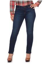 Curvy Fit Straight Leg Jeans 22W CHAPS DANIELLA Dark Blue Rinse Wash 32L NWT
