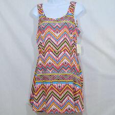 NWT Women's M Bobby Brooks Zig Zag Aztec Empire Waist Tank Top Dress