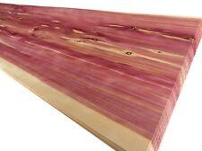 3 x AROMATIC RED ZEDER FURNIER EDELHOLZ Möbel Brett Wand Front Tür Tisch MASSIV