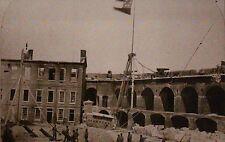 Fort Sumter South Carolina, Historic View  4-15-1861, Flag -- Civil War Postcard