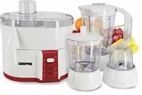 Geepas 4-in-1 Multi-Function Food Processor | Electric Blender Juicer, 2-Speed