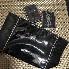 YVES SAINT LAURENT YSL BEAUTY Black Opium Patent Pouch Cosmetic Bag & BONUS NEW