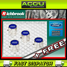 Richbrook Ford Official Licensed RS Car Anti Theft Alloy Valve Dust Caps 4 Set+F