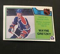 1983 O-Pee-Chee OPC #217 Wayne Gretzky Scoring Leader NHL Hockey Card Oilers