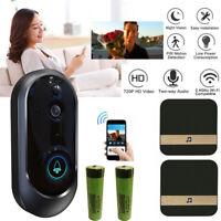 Smart Wireless WiFi Doorbell HD Camera IR Video Phone Intercom + Ding Dong Lot
