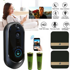 Smart Wireless WiFi Doorbell HD Camera IR Video Phone Intercom + Ding Dong Lot