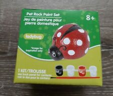 (1) Ladybug Pet Rock Paint Set. Crafts, Kids, Art Set. Perfect at home craft