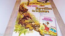 MERVEILLES DE LA NATURE ! affiche cinema  jungle, bisons  disney picsou  1958