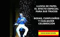MAGIA TRUCOS FIESTAS BODAS LLUVIA DE PAPEL LOTE DE 12 PZ CELEBRACIONES EFECTOS
