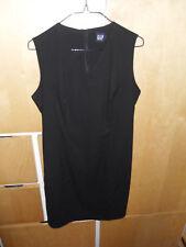Femme Gap Noir Taille 4 Sans Manches Doublé Robe