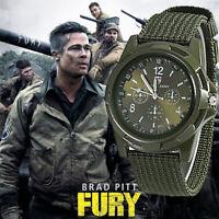 Mens Nylon Band Military Watch Army High Quality Quartz Sports Casual Wristwatch