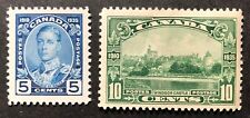 CANADA 1935 #s 214-215 - KING GEORGE V 'SILVER JUBILEE' ISSUE x 2 MINT HINGED