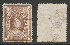 QUEENSLAND 1871-72 10/- BROWN STAMP DUTY (U) WMK REV??