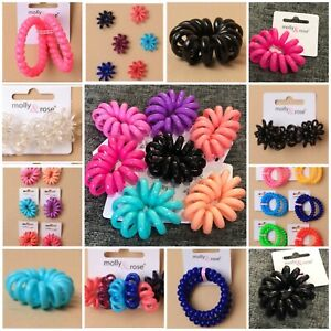 Spiral Coil No Tangle Telephone Cord Elastics Hairband Hair Tie Small  Or Large
