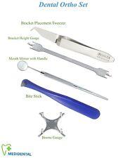 Pinze Ortodonzia Spingibande Bracket Tweezers Height Gauge Manici Specchiett kit