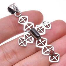 Collares y colgantes de joyería con gemas naturales de plata de ley de turmalina