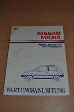 Werkstatthandbuch Wartungsanleitung Nissan Micra K10 Ergänzung 2