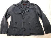 TRIPP TWILL Coat sz XL Military Army Gothic punk Jacket Gray