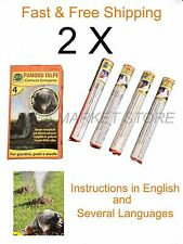 8 x Smoke bomb Professional Blind moles Mole Repellent up to 50 m2 hole Tunnels