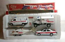 HOBBY DAX CITY TEAM RESCUE SET 3 VEHICLES / 1 HELICOPTER / BARRIER & CONE