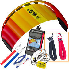 HQ Symphony Beach III 1.8 Kite Mango Foil Power Stunt + Plus Padded Wrist Straps