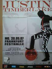 JUSTIN TIMBERLAKE 2007  FRANKFURT + orig. Concert Poster - Konzert Plakat  F/NEU