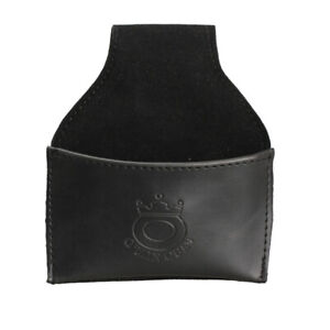 Black Faux Leather Chalk Holder Pouch with Clip Pool Billiards Snooker Cue