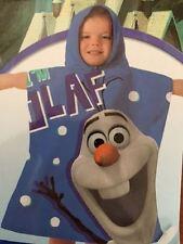 Disney Frozen Olaf Beach Bath Holiday Poncho Towel Blue 50 x 115cm