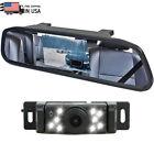 4.3'' Mirror Monitor Car Reversing Backup Camera Kit Parking System Night Vision