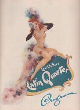 Latin Quarter  (NYC Night Club)  1948  Souvenir Program  Ann Corio, Tommy Wonder