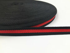 2018NEW 5Yards Of 1.5cm/0.6in Soft Polyester Air Webbing Black/Red Straps,Leads