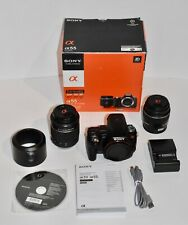 Sony SLT-A55 16.2 MP Digital SLR Camera 2 Lenses, battery, charger, box, strap