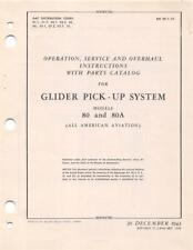 1946 AAF GLIDER PICK-UP SYSTEM MODELS 80 & 80A OP,SERV,OH,PARTS FLIGHT MANUAL-CD