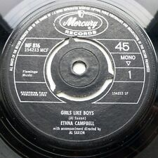 ETHNA CAMPBELL pop Sandy Shaw style UK 45 GIRLS LIKE BOYS 5 MINUTES MORE E9927