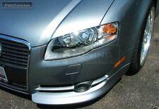 Audi A4 B7 05-08 Front Bumper spoiler flaps elerons addon for OEM bumper