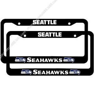 Seattle Seahawks 2PCS Chrome License Plate Frame Set Auto Truck Car Tag Cover