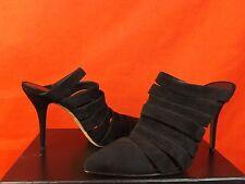 NIB ALEXANDER WANG BLACK SUEDE STRAPPY BRITT MULE BOOTIES 40 $625