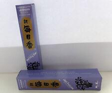 50 Stück japanische Räucherstäbchen incense sticks -mit Keramikteller - Lavendel