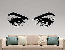 Woman Eyes Wall Decal Vinyl Sticker Make Up Art Fashion Beauty Salon Decor 5hezz