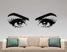 Woman Eyes Wall Decal Vinyl Sticker Make Up Art Fashion Beauty Salon Decor 5hezz