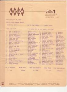 KAUS- Austin, MN- Original Top 40 Radio Station Music Survey- August 26, 1967.