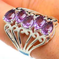 Amethyst925 Sterling Silver Ring Size 8.25 Jewelry R46573F