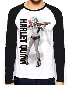 Official DC Comics SUICIDE SQUAD HARLEY QUINN Long Sleeve T-Shirt Tee S-XXL NEW