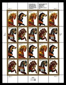 1¢ WONDER'S ~ 1994 MNH SOUVENIR SHEET W/ 32¢ CAROUSEL HORSES (FV = $6.40) ~ S299
