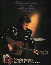 Marty Stuart Pre-War Martin D-45 guitar Marquis Strings ad 8 x 11 advertisement