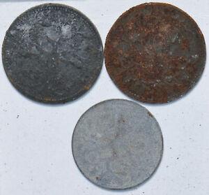 Germany 1917 5/10/10 Pfennig 293131 combine
