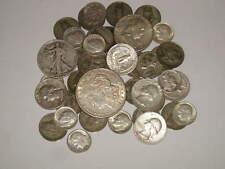 8oz- 1964 & Older US Silver Coins MORGAN DOLLAR HALVES QUARTERS & MORE~ 43 COINS